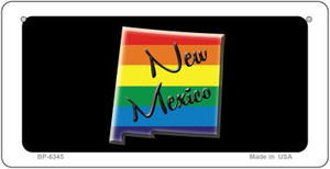 New Mexico Rainbow State Wholesale Novelty Metal Bicycle Plate BP-6345