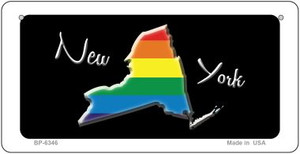 New York Rainbow State Wholesale Novelty Metal Bicycle Plate BP-6346