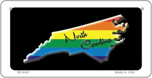 North Carolina Rainbow State Wholesale Novelty Metal Bicycle Plate BP-6347