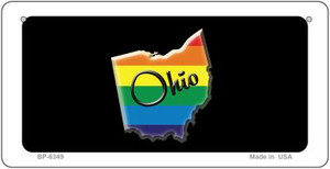 Ohio Rainbow State Wholesale Novelty Metal Bicycle Plate BP-6349
