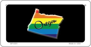 Oregon Rainbow State Wholesale Novelty Metal Bicycle Plate BP-6351