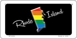 Rhode Island Rainbow State Wholesale Novelty Metal Bicycle Plate BP-6353