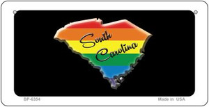 South Carolina Rainbow State Wholesale Novelty Metal Bicycle Plate BP-6354