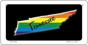 Tennessee Rainbow State Wholesale Novelty Metal Bicycle Plate BP-6356