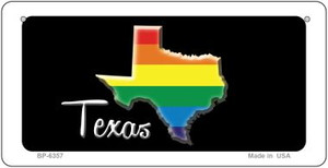 Texas Rainbow State Wholesale Novelty Metal Bicycle Plate BP-6357