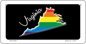 Virginia Rainbow State Wholesale Novelty Metal Bicycle Plate BP-6360