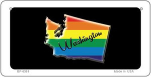 Washington Rainbow State Wholesale Novelty Metal Bicycle Plate BP-6361