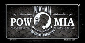 POW MIA Wholesale Novelty Metal Bicycle Plate BP-8576