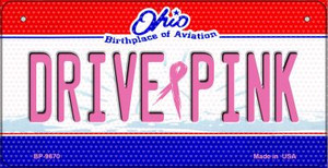 Drive Pink Ohio Wholesale Novelty Metal Bicycle Plate BP-9670