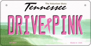 Drive Pink Tennessee Wholesale Novelty Metal Bicycle Plate BP-9677