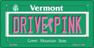 Drive Pink Vermont Wholesale Novelty Metal Bicycle Plate BP-9680