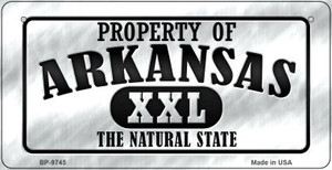 Property Of Arkansas Wholesale Novelty Metal Bicycle Plate BP-9745