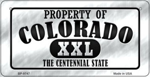 Property Of Colorado Wholesale Novelty Metal Bicycle Plate BP-9747
