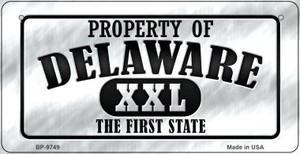 Property Of Delaware Wholesale Novelty Metal Bicycle Plate BP-9749