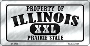 Property Of Illinois Wholesale Novelty Metal Bicycle Plate BP-9754