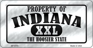 Property Of Indiana Wholesale Novelty Metal Bicycle Plate BP-9755