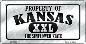 Property Of Kansas  Wholesale Novelty Metal Bicycle Plate BP-9757