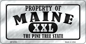 Property Of Maine Wholesale Novelty Metal Bicycle Plate BP-9760