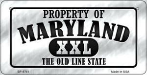 Property Of Maryland Wholesale Novelty Metal Bicycle Plate BP-9761