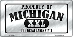 Property Of Michigan Wholesale Novelty Metal Bicycle Plate BP-9763