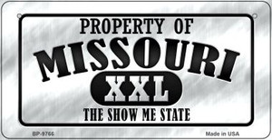 Property Of Missouri Wholesale Novelty Metal Bicycle Plate BP-9766