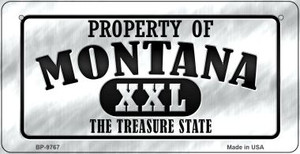 Property Of Montana Wholesale Novelty Metal Bicycle Plate BP-9767