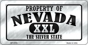 Property Of Nevada Wholesale Novelty Metal Bicycle Plate BP-9769