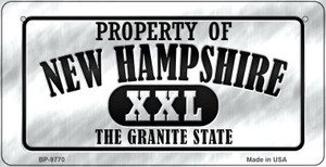 Property Of New Hampshire Wholesale Novelty Metal Bicycle Plate BP-9770