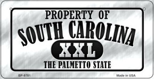 Property Of South Carolina Wholesale Novelty Metal Bicycle Plate BP-9781