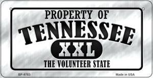 Property Of Tennessee Wholesale Novelty Metal Bicycle Plate BP-9783