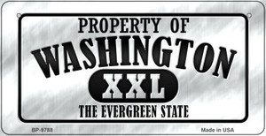 Property Of Washington Wholesale Novelty Metal Bicycle Plate BP-9788