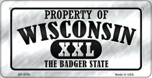 Property Of Wisconsin Wholesale Novelty Metal Bicycle Plate BP-9790