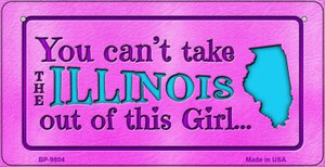 Illinois Girl Wholesale Novelty Metal Bicycle Plate BP-9804