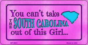South Carolina Girl Wholesale Novelty Metal Bicycle Plate BP-9831
