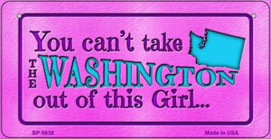 Washington Girl Wholesale Novelty Metal Bicycle Plate BP-9838