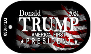 America First President Trump Wholesale Novelty Metal Dog Tag Necklace DT-11030