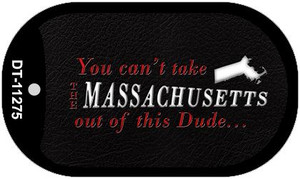Massachusetts Dude Wholesale Novelty Metal Dog Tag Necklace DT-11275