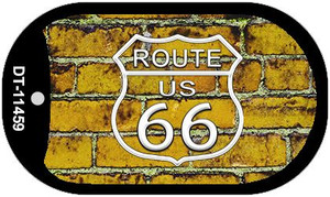 Route 66 Yellow Brick Wall Wholesale Novelty Metal Dog Tag Necklace DT-11459