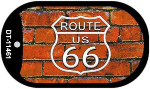 Route 66 Orange Brick Wall Wholesale Novelty Metal Dog Tag Necklace DT-11461