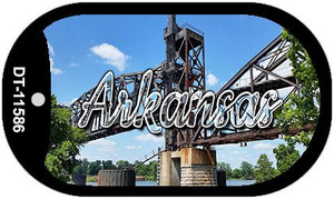 Arkansas Rusty Bridge Wholesale Novelty Metal Dog Tag Necklace DT-11586