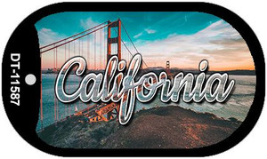 California Golden Gate Bridge Wholesale Novelty Metal Dog Tag Necklace DT-11587
