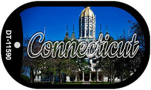 Connecticut Capital Building Wholesale Novelty Metal Dog Tag Necklace DT-11590