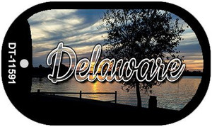Delaware River Sunset Wholesale Novelty Metal Dog Tag Necklace DT-11591