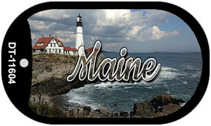 Maine Lighthouse Beach Wholesale Novelty Metal Dog Tag Necklace DT-11604