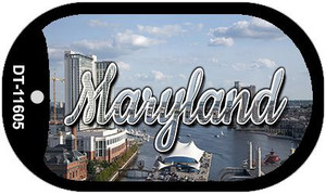 Maryland River Skyline Wholesale Novelty Metal Dog Tag Necklace DT-11605