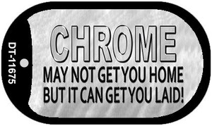 Chrome May Not Get You Home Wholesale Novelty Metal Dog Tag Necklace DT-11675