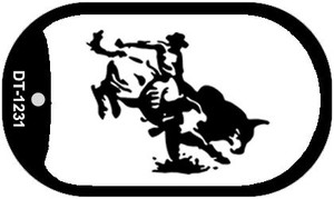 Bull Rider Wholesale Novelty Metal Dog Tag Necklace DT-1231