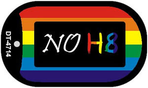 NO H8 Rainbow  Wholesale Novelty Metal Dog Tag Necklace DT-4714