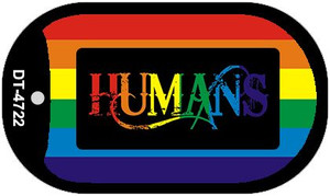 Humans Rainbow Wholesale Novelty Metal Dog Tag Necklace DT-4722