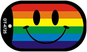 Smiley Face Rainbow Wholesale Novelty Metal Dog Tag Necklace DT-4725